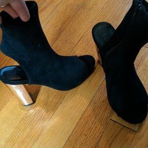 Peep toe ankle bootie
